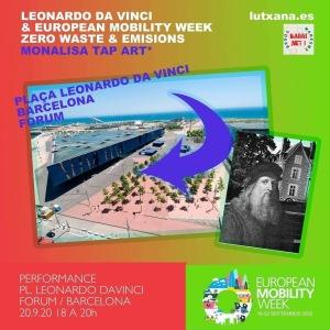mona lisa tap art lutxana art performance mobility week 2020 barcelona