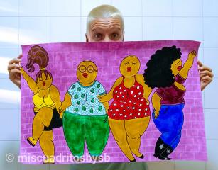 💜Mis cuadritos by sb Sonia Belzunces artista proyecto ilustraciones y pintura feminista Barcelona
